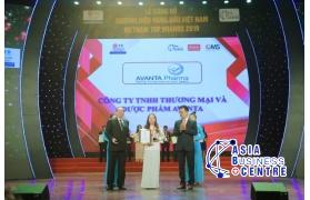 AVANTA PHARMA vinh danh trở thành Top 10 Thương hiệu hàng đầu Việt Nam 2019
